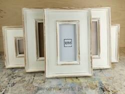 White distressed deep picture frames