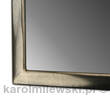 Mirror in frame gilded with gold leaf, moon gold on grey bole