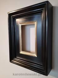 Bespoke picture frame gilded white gold 12ct