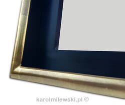 Custom picture frame, gold gilded tray