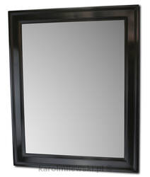 Black gesso picture frame A173