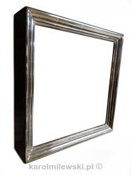 Custom picture frame 160 gilded white gold 6ct