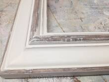 Mirror in white distressed frame