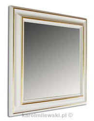 White picture frame A290 partially gilt