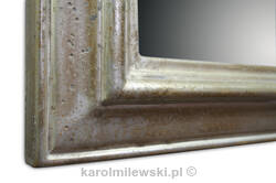 Mirror in distressed frame gilded white gold 112AV