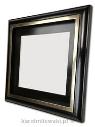 Custom picture frame gold gilded